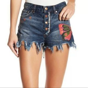 NWT Free People fields of sun denim shorts